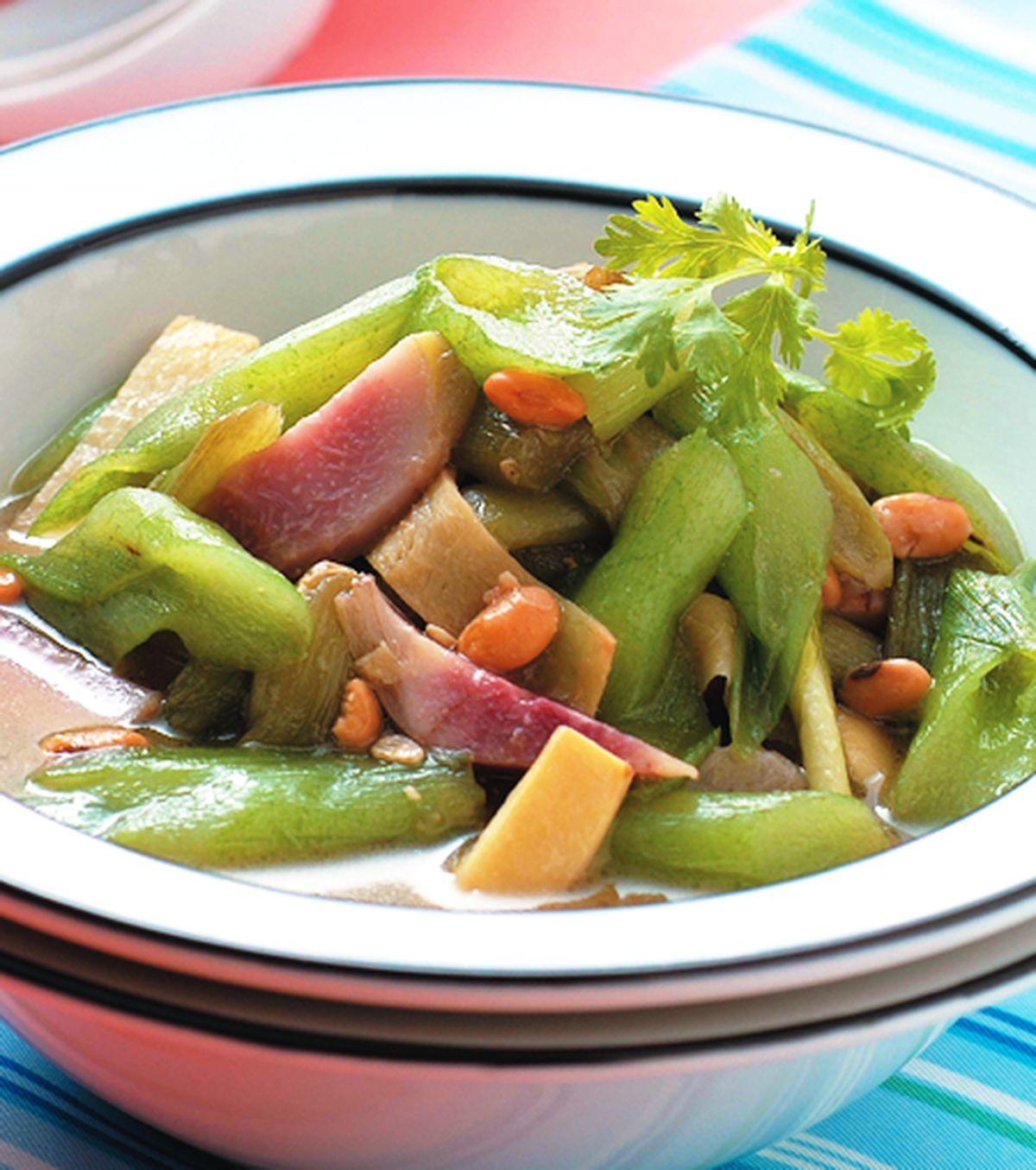 食譜:豆醬炒芋梗