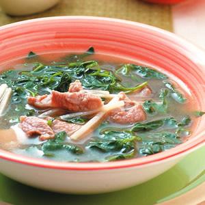 麻油黑田菜湯