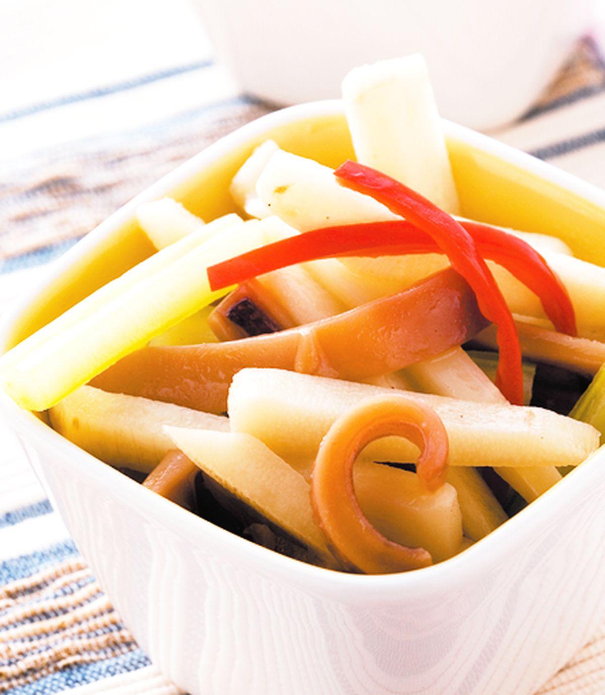 食譜:筍條炒魷魚
