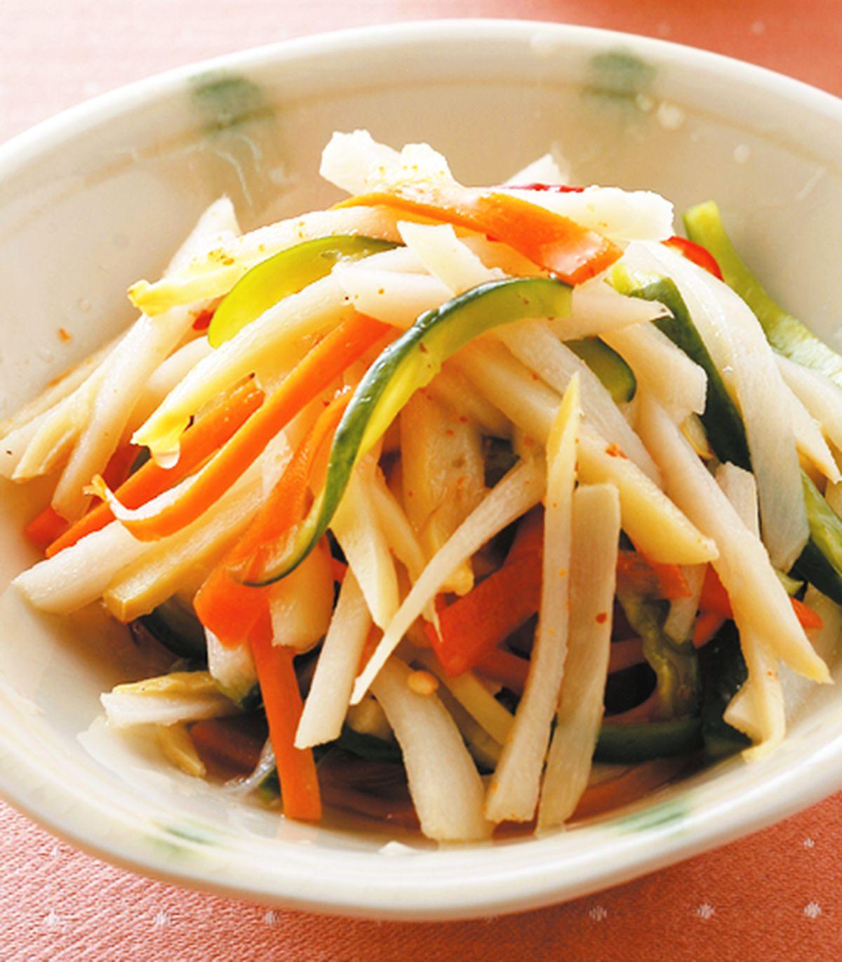 食譜:辣拌鮮筍絲