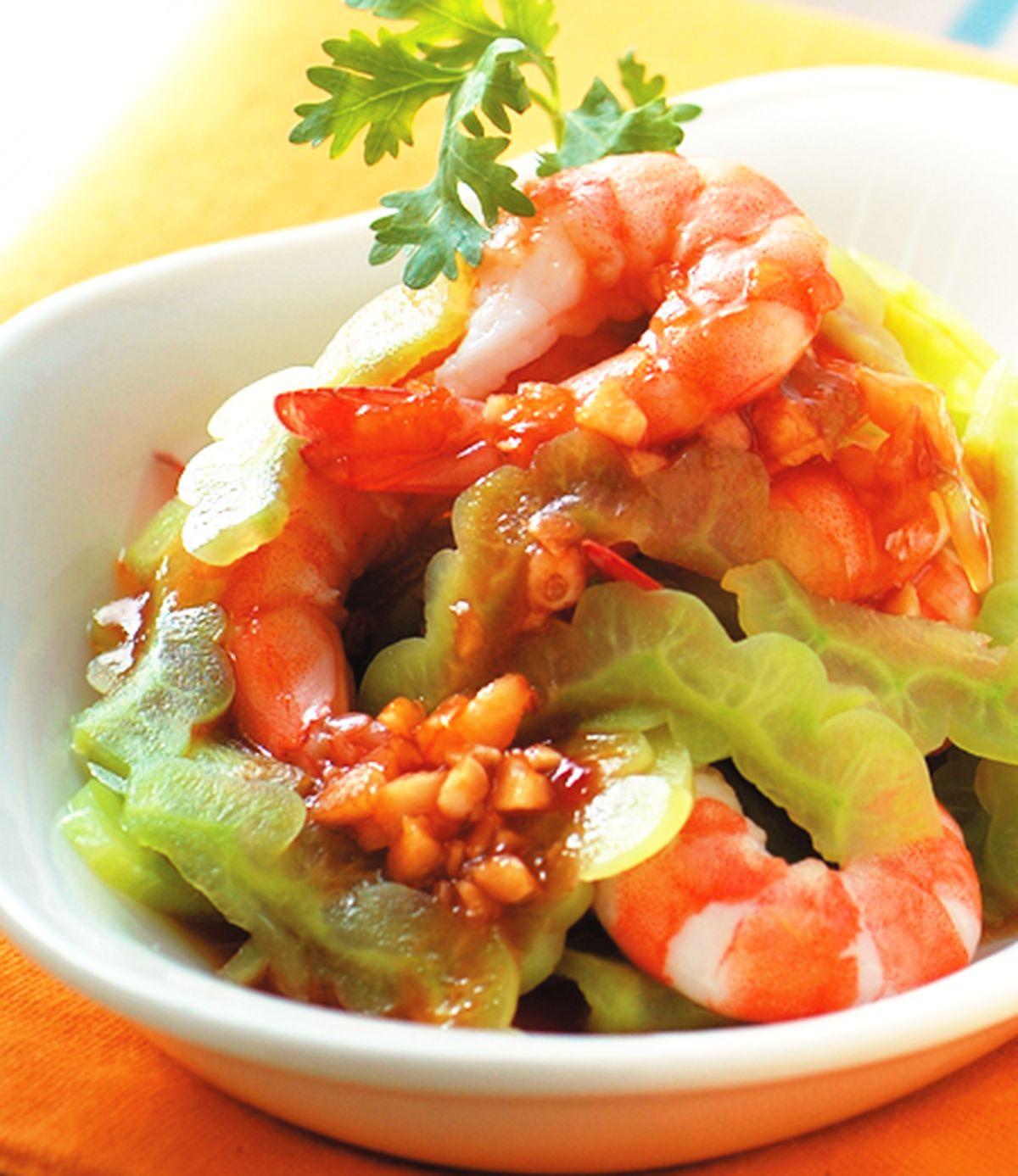 食譜:苦瓜拌鳳蝦