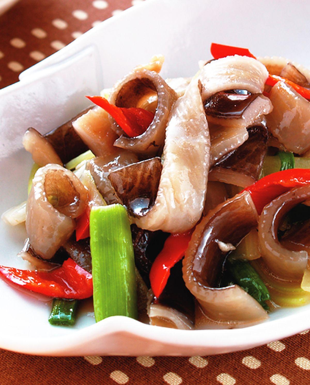 食譜:炒魚皮
