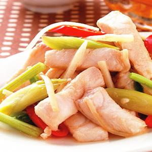 蒜苗炒鯊魚(1)