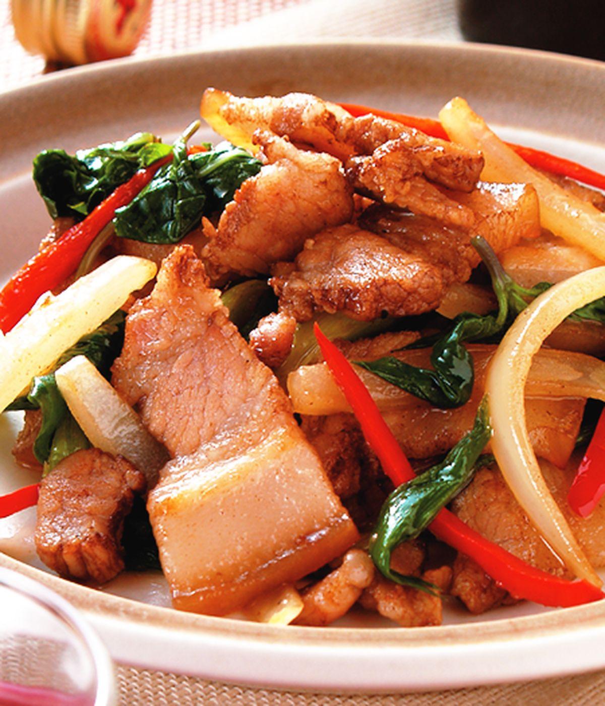 食譜:爆炒鹹豬肉