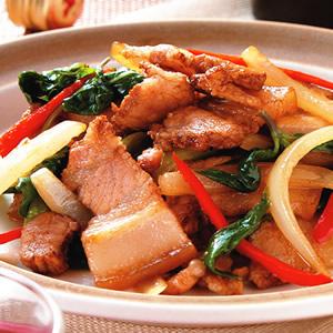 爆炒鹹豬肉