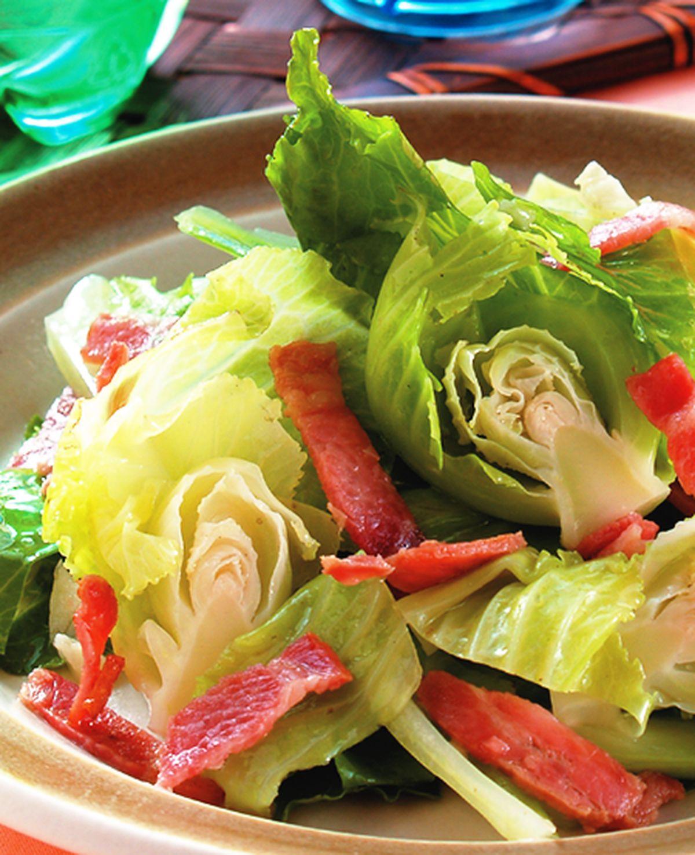 食譜:培根高麗菜苗