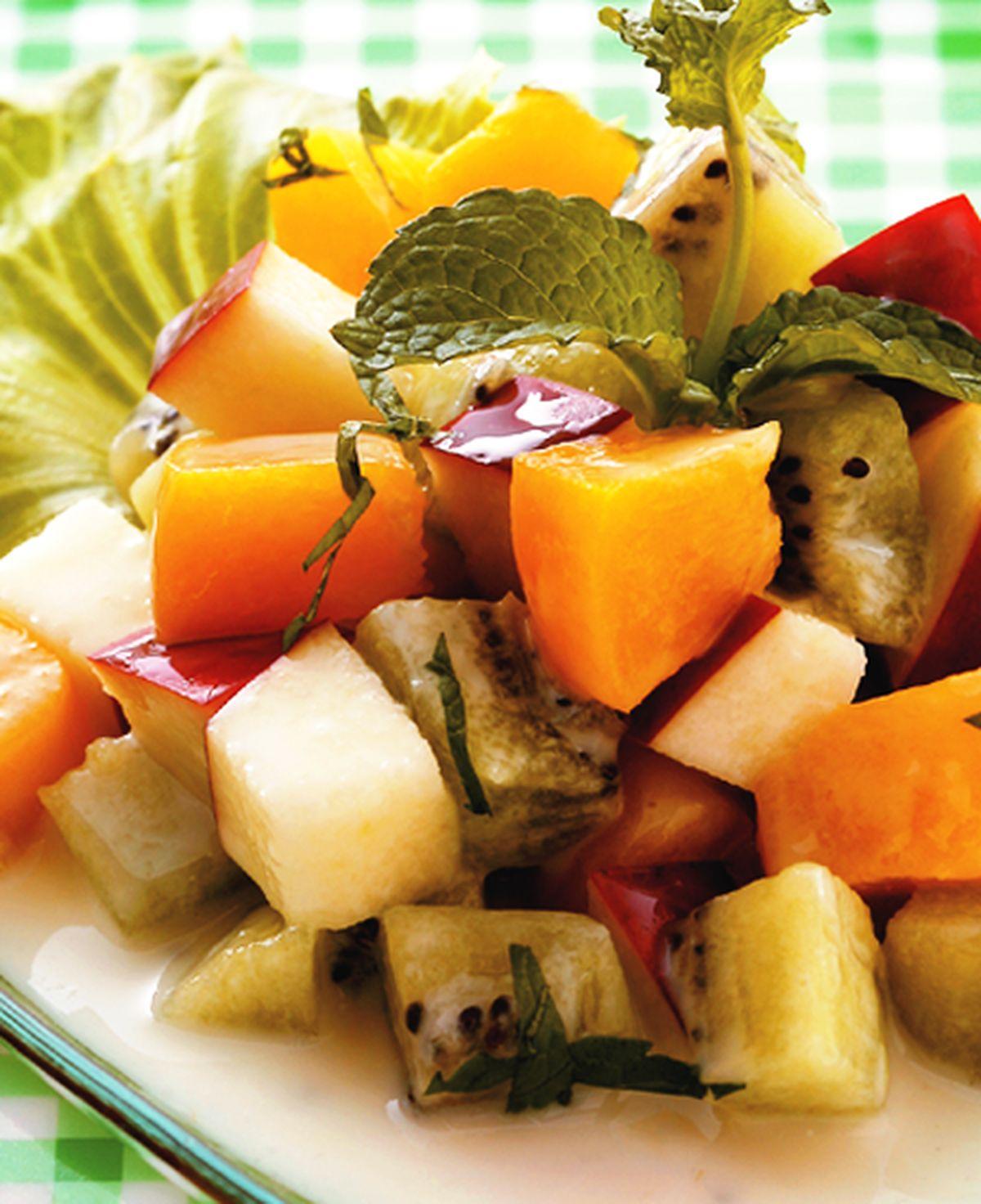 食譜:水果優格薄荷沙拉