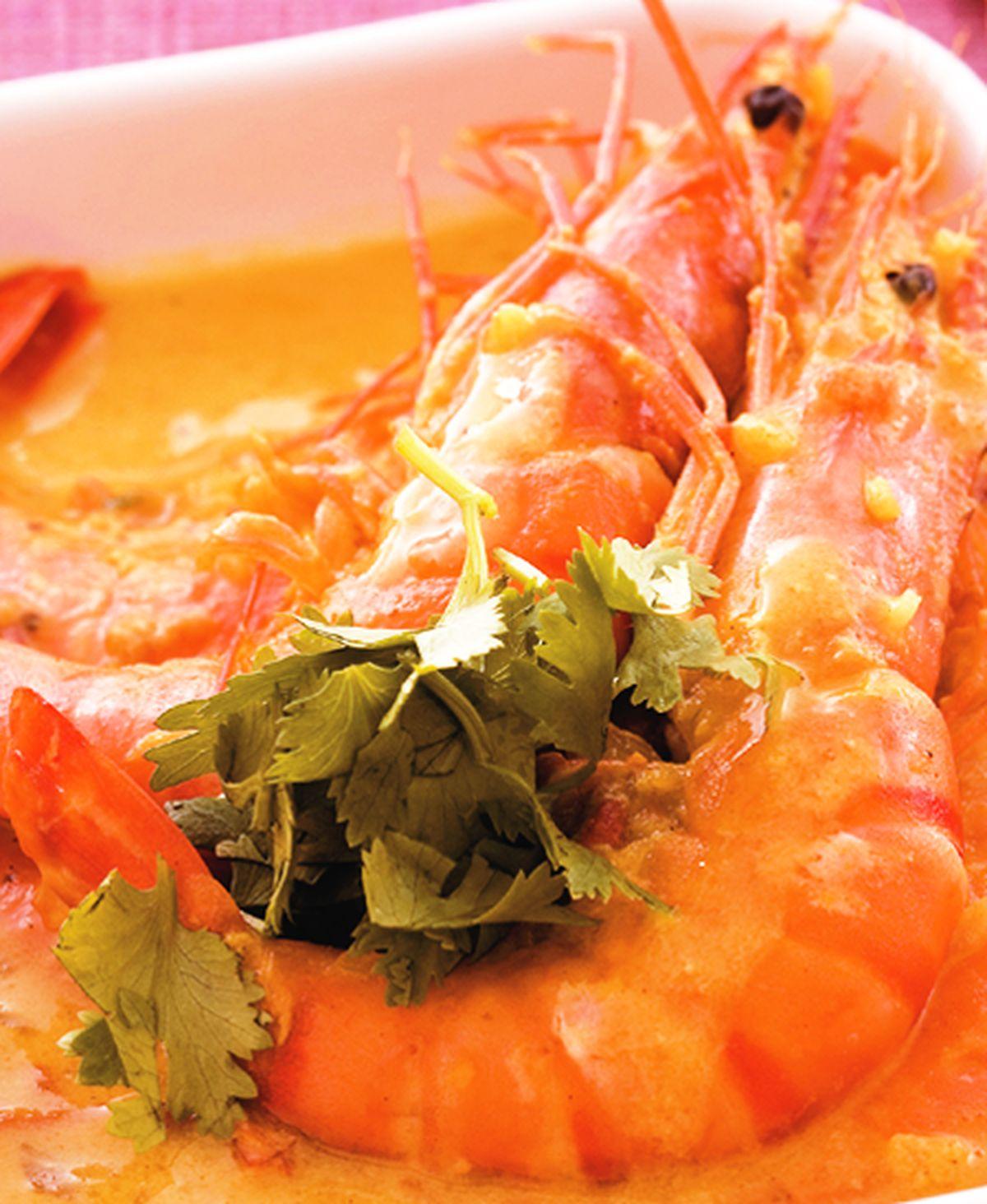 食譜:咖哩茄汁燴鮮蝦