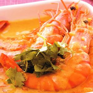 咖哩茄汁燴鮮蝦