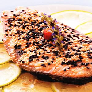 烤芝麻鮭魚