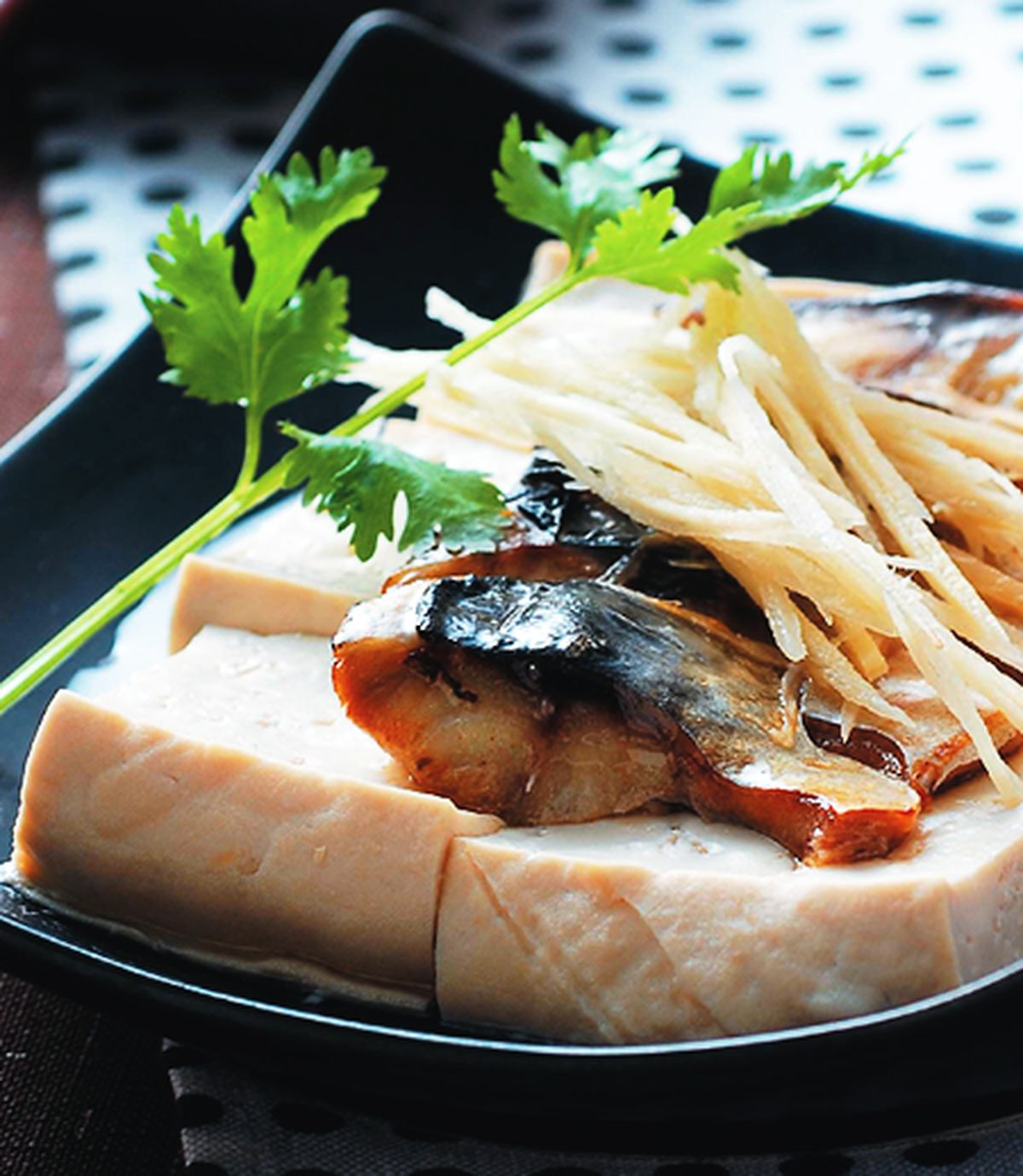 食譜:鹹魚蒸豆腐