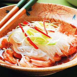 蘿蔔絲蒸蝦