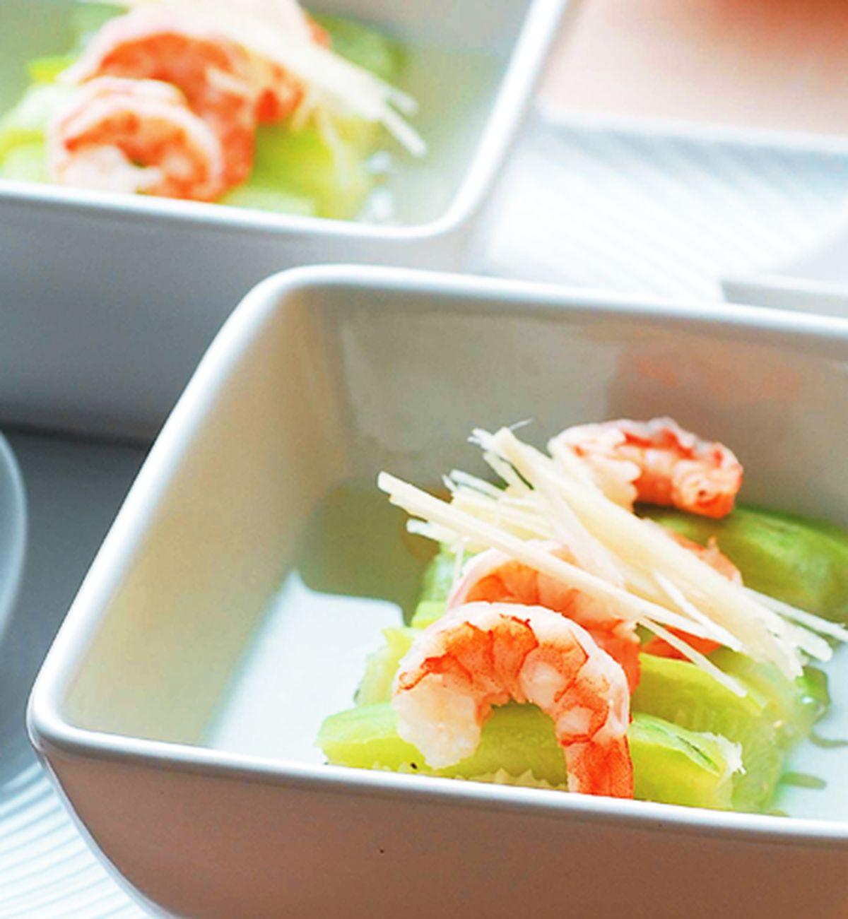 食譜:絲瓜蒸蝦