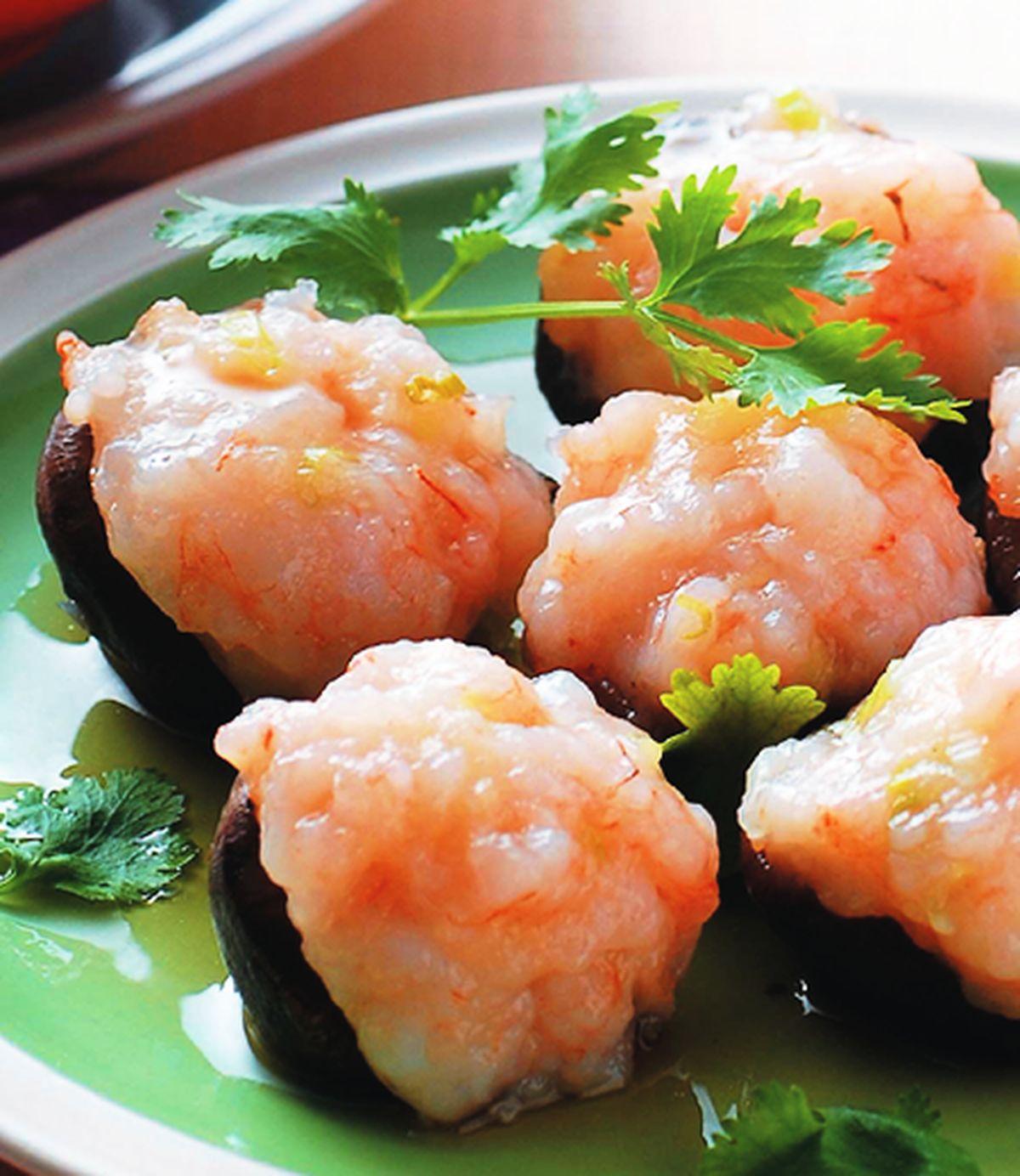 食譜:香菇鑲蝦漿