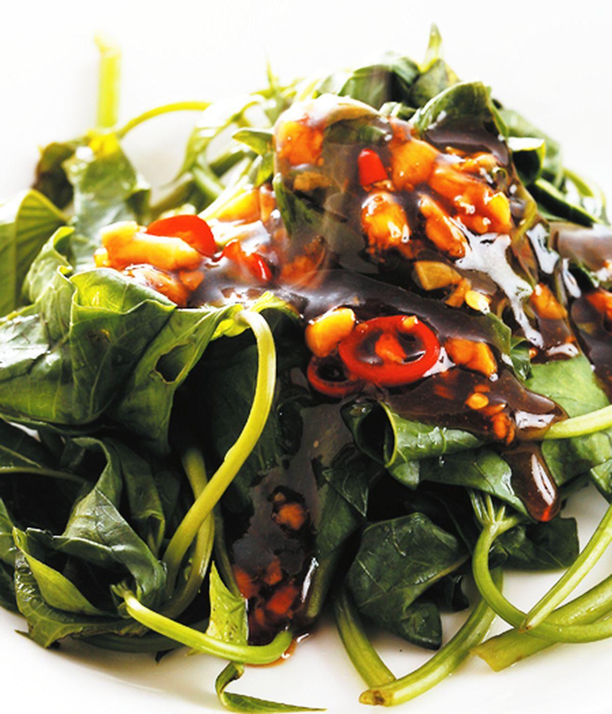 食譜:蠔油蒜香地瓜葉