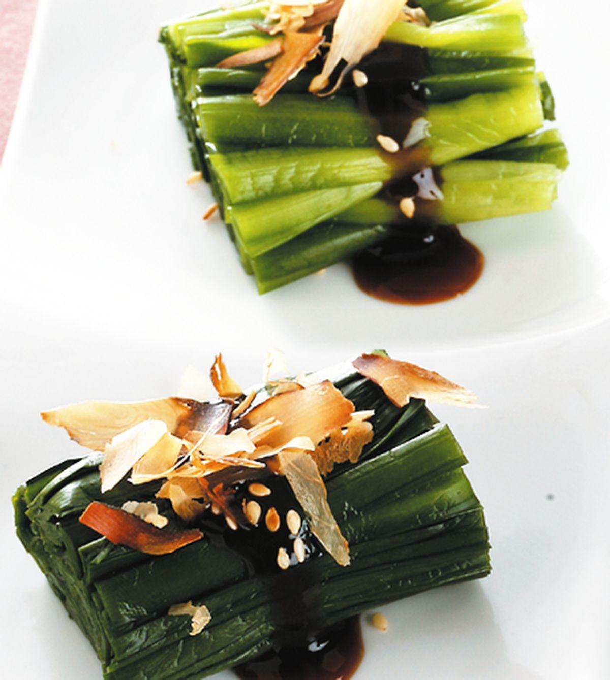 食譜:芝麻柴魚韭菜卷