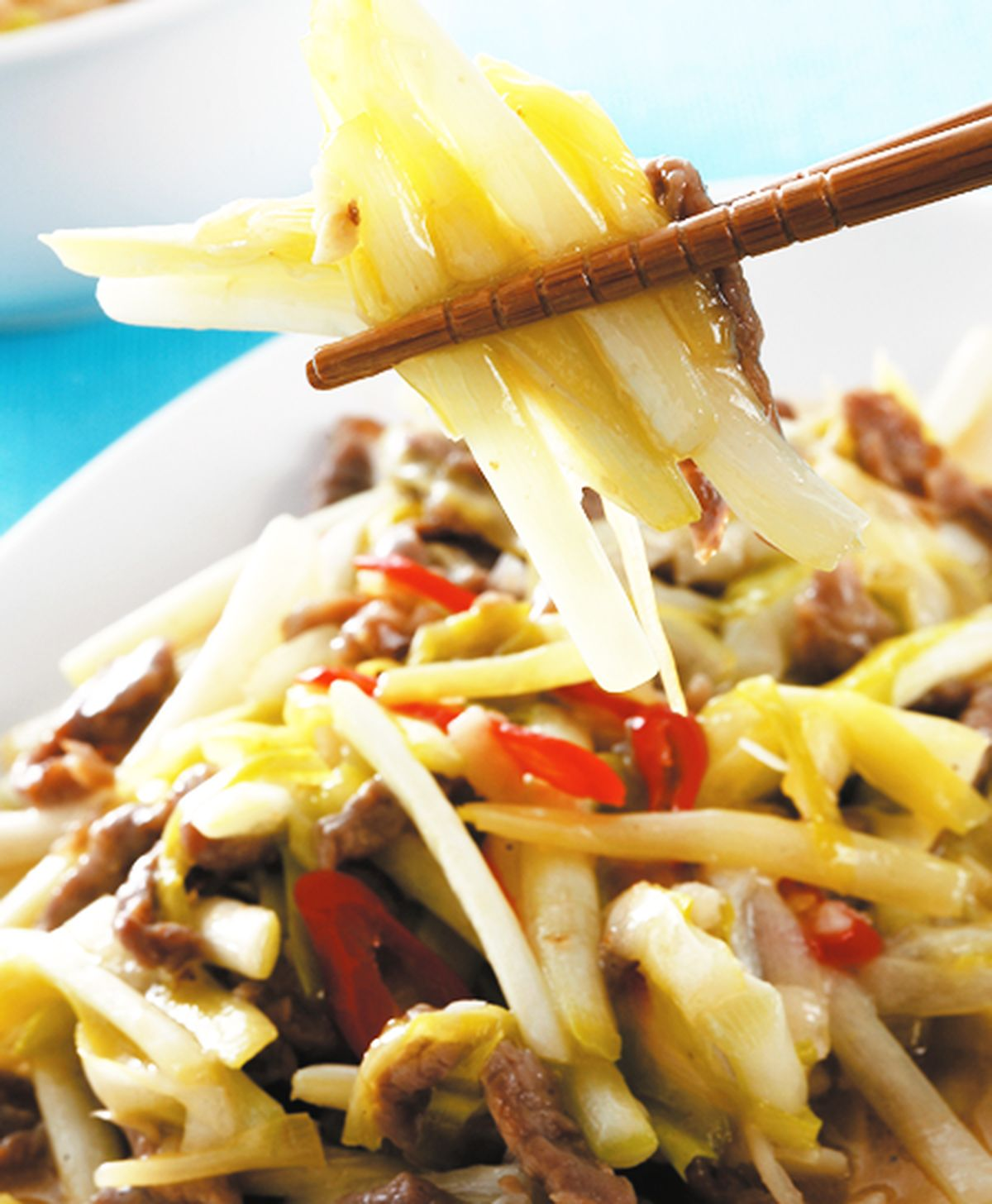 食譜:韭黃牛肉絲