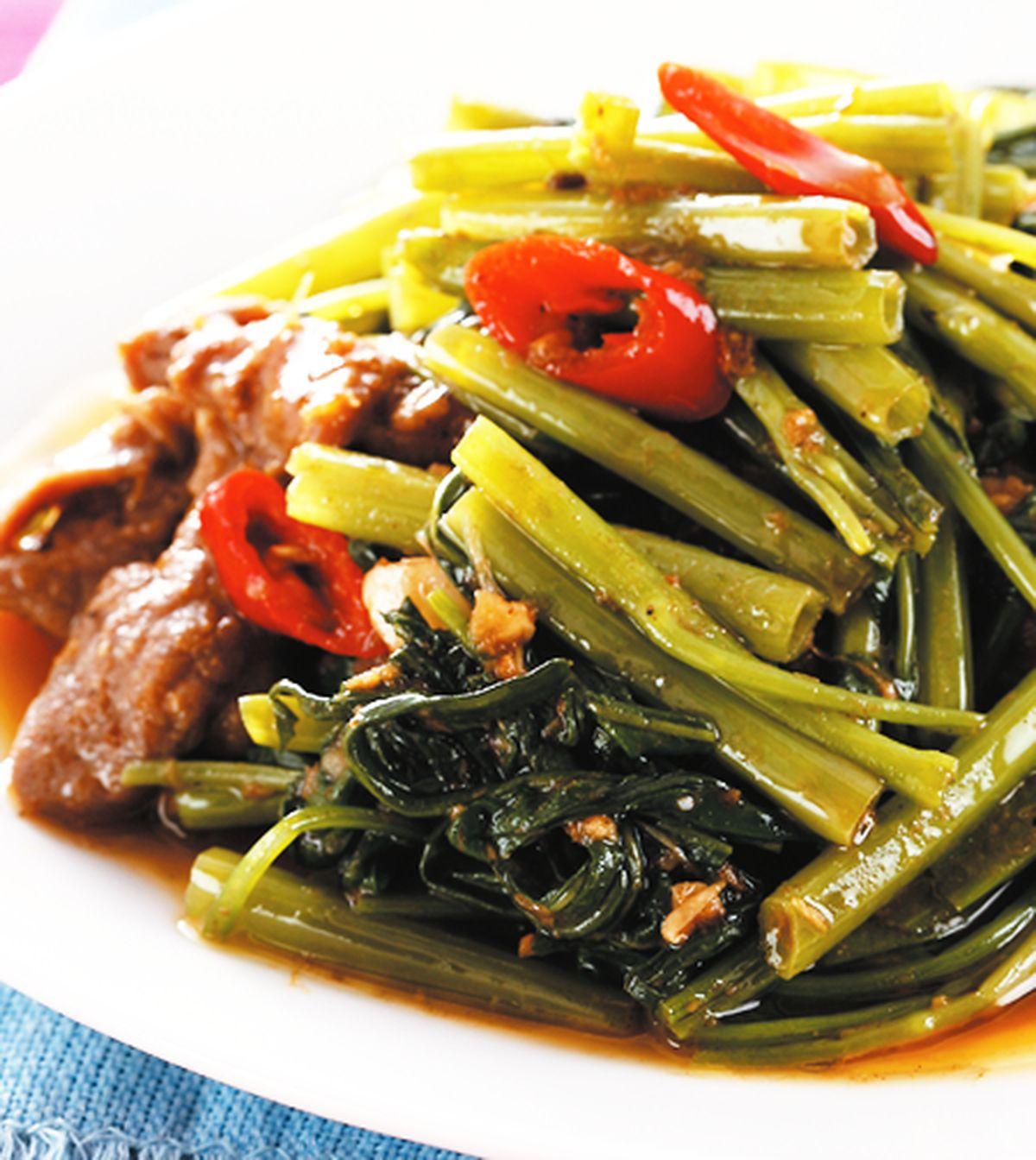 食譜:沙茶牛肉空心菜