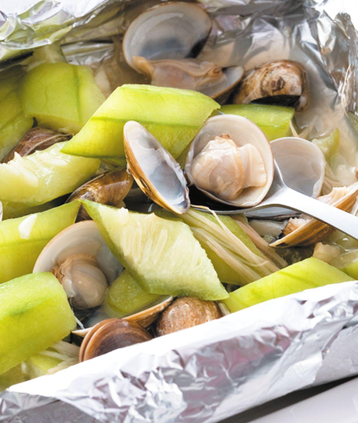 食譜:蛤蜊絲瓜(3)