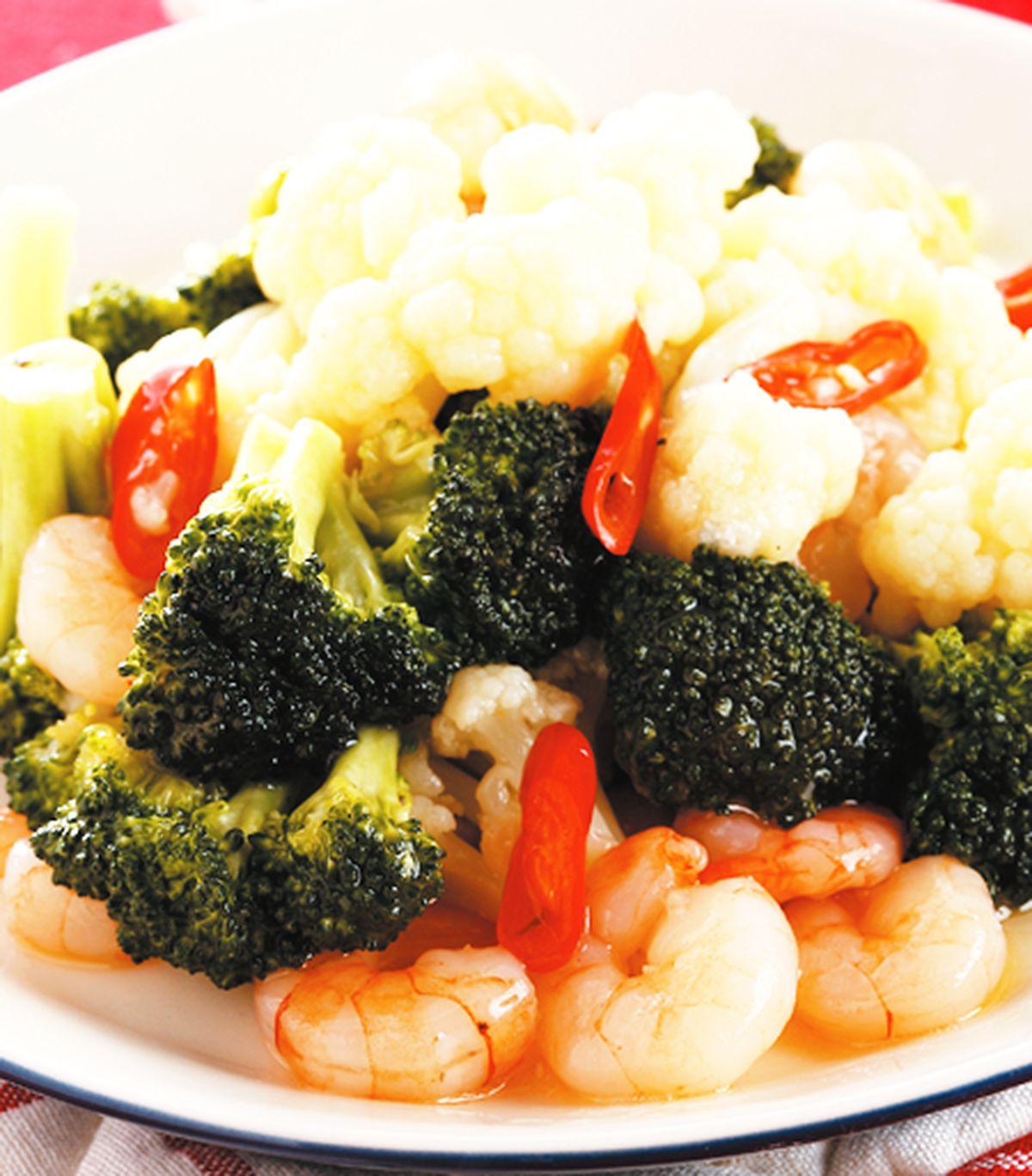 食譜:雙色花椰炒蝦仁