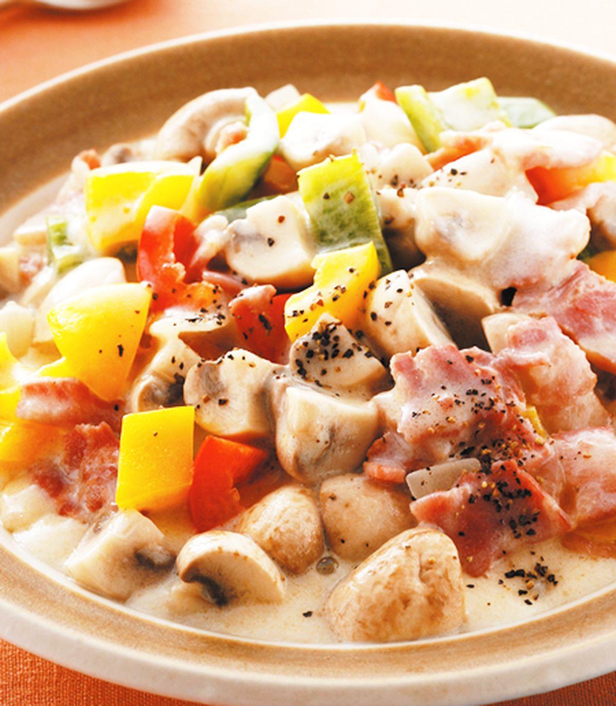 食譜:培根奶油洋菇