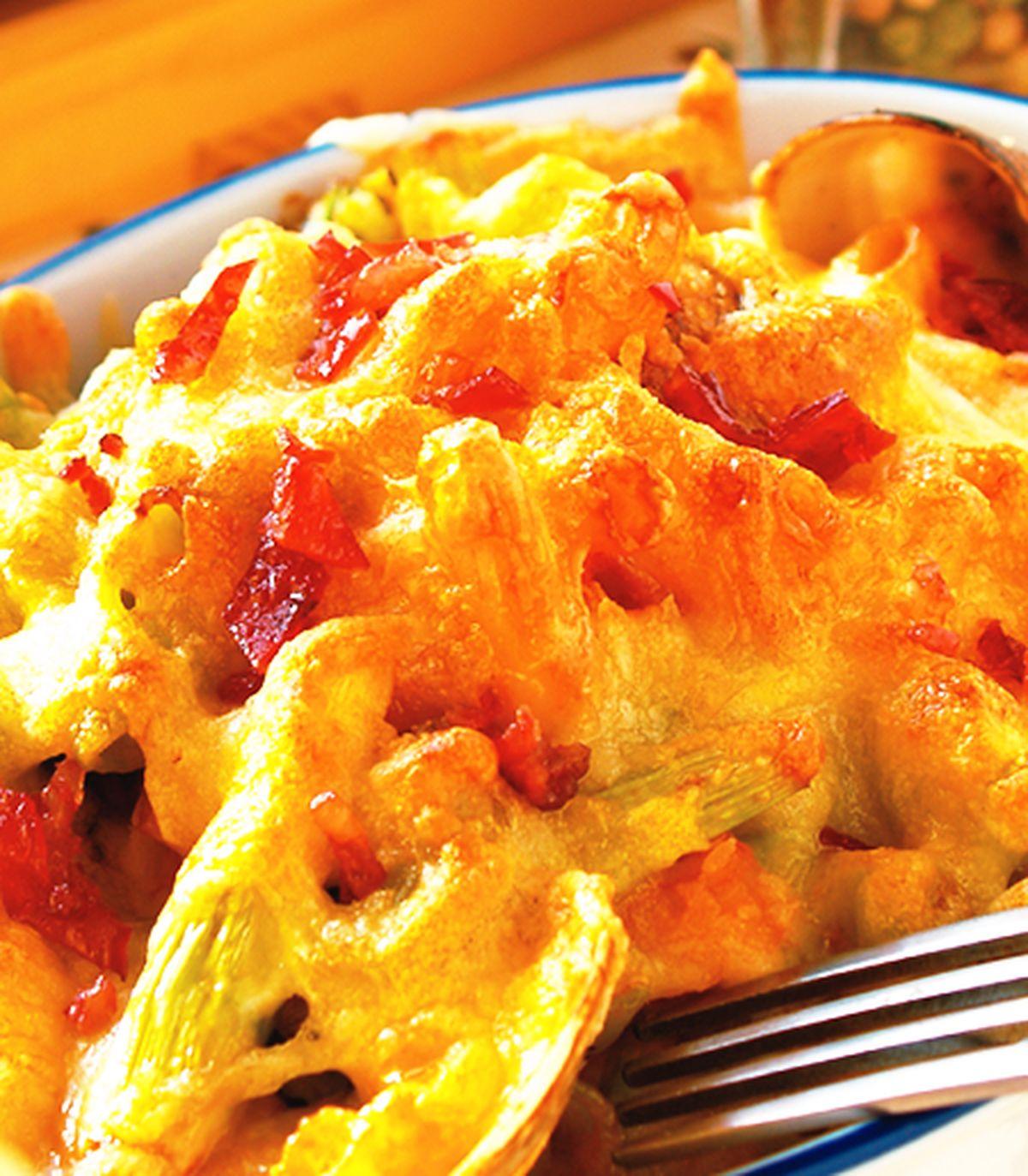 食譜:焗烤培根蘆筍蛤蜊通心麵