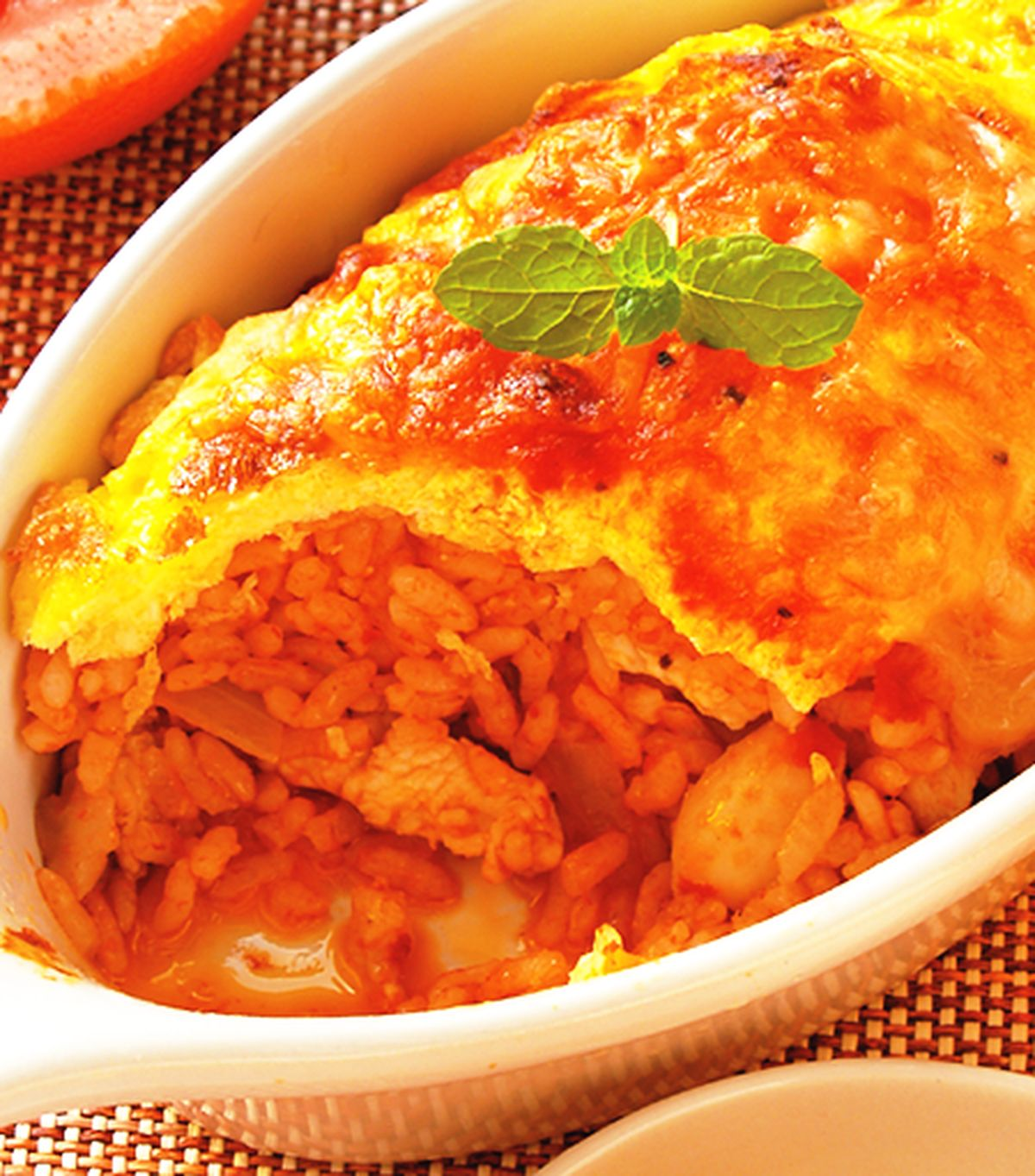 食譜:焗烤紅醬蛋包飯