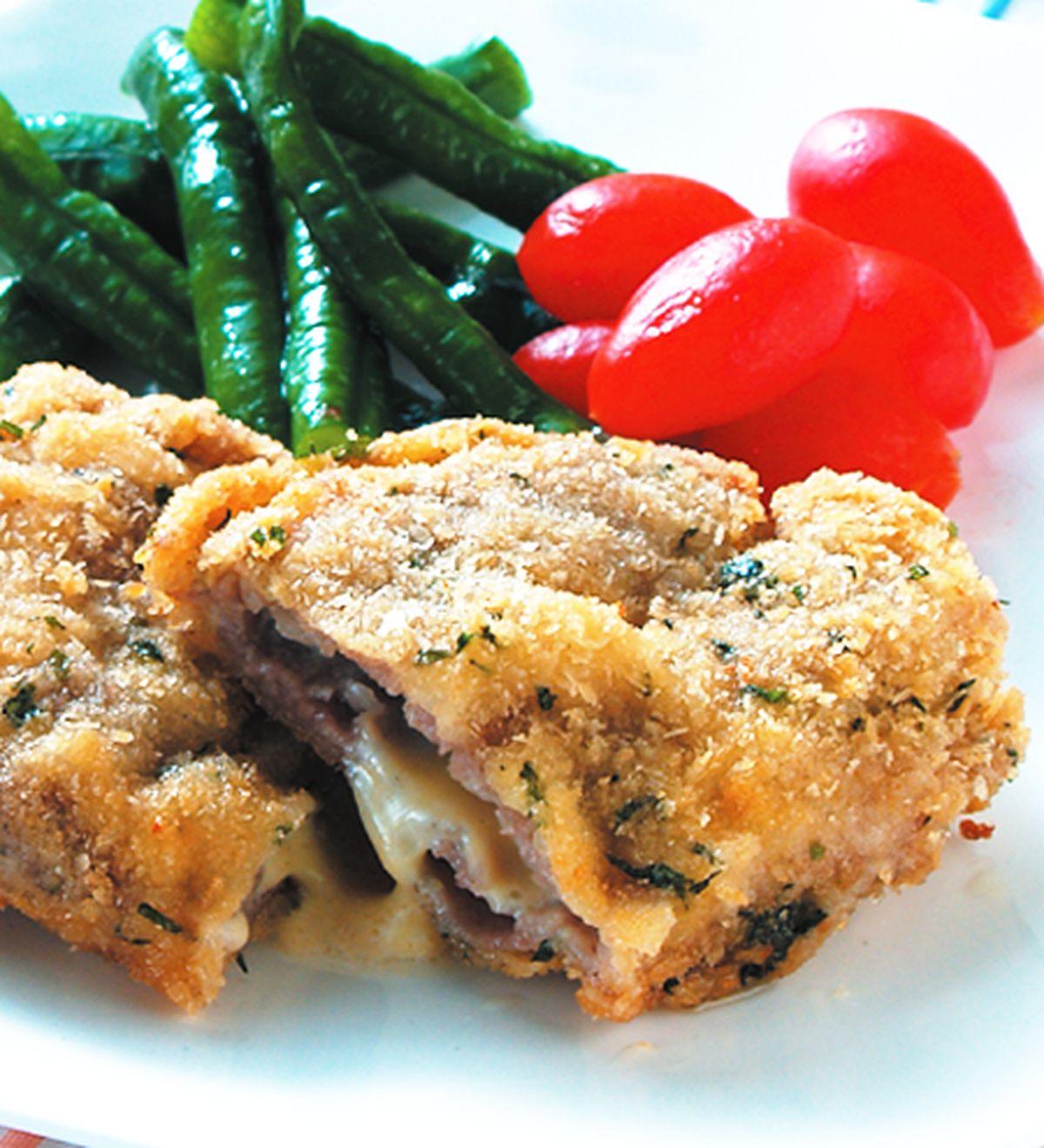 食譜:酥煎起司肉片排