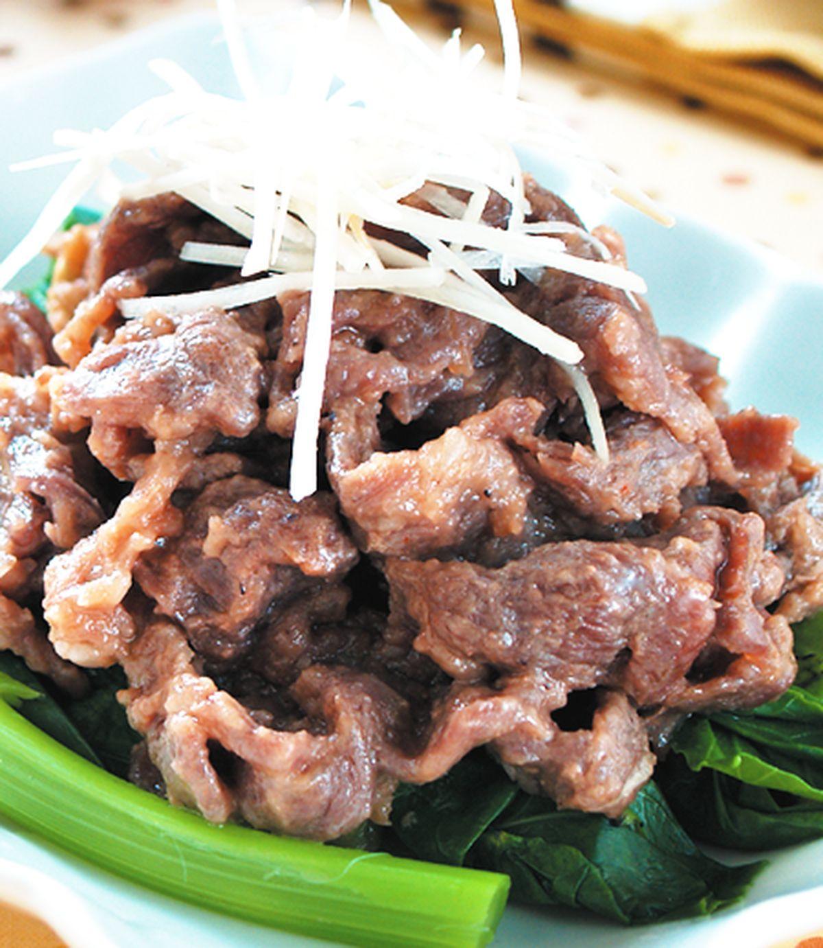 食譜:蝦醬蒸牛肉