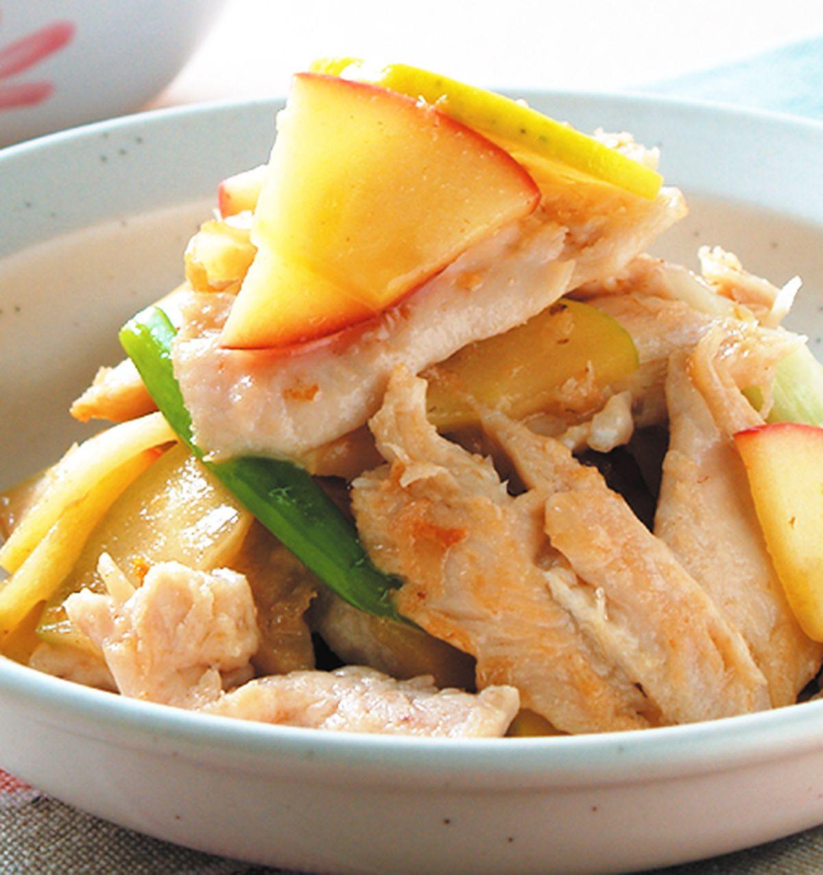 食譜:蘋果炒雞肉片