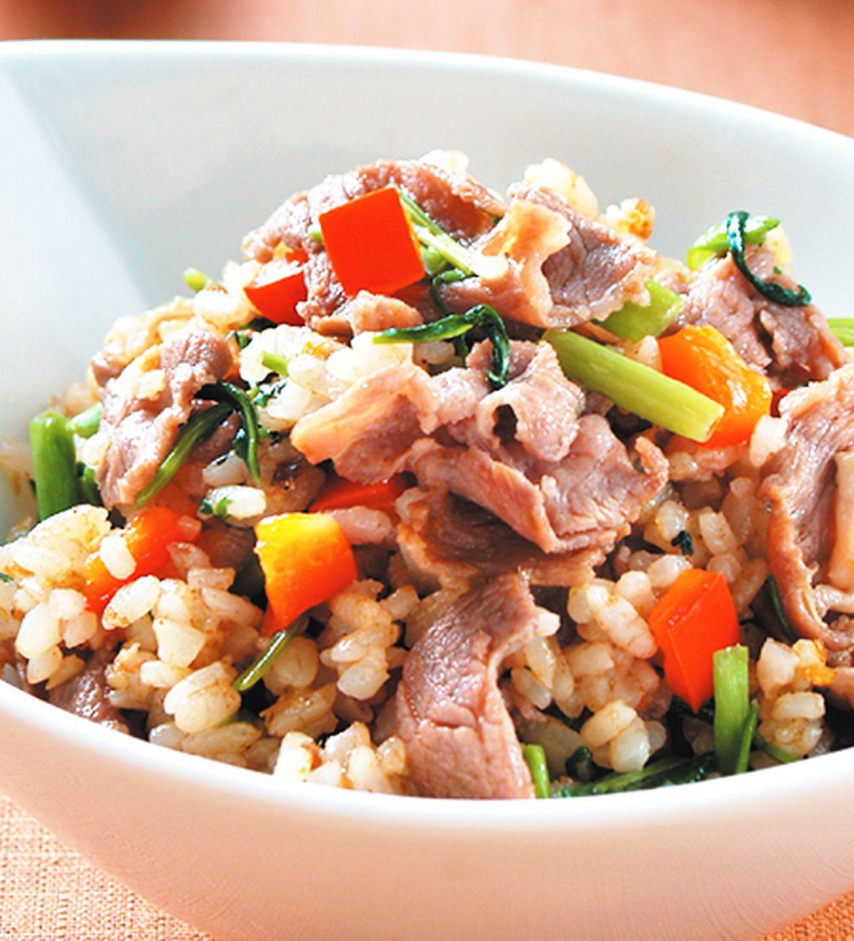 食譜:沙茶羊肉炒飯