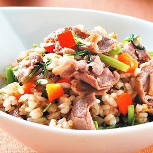 沙茶羊肉炒飯