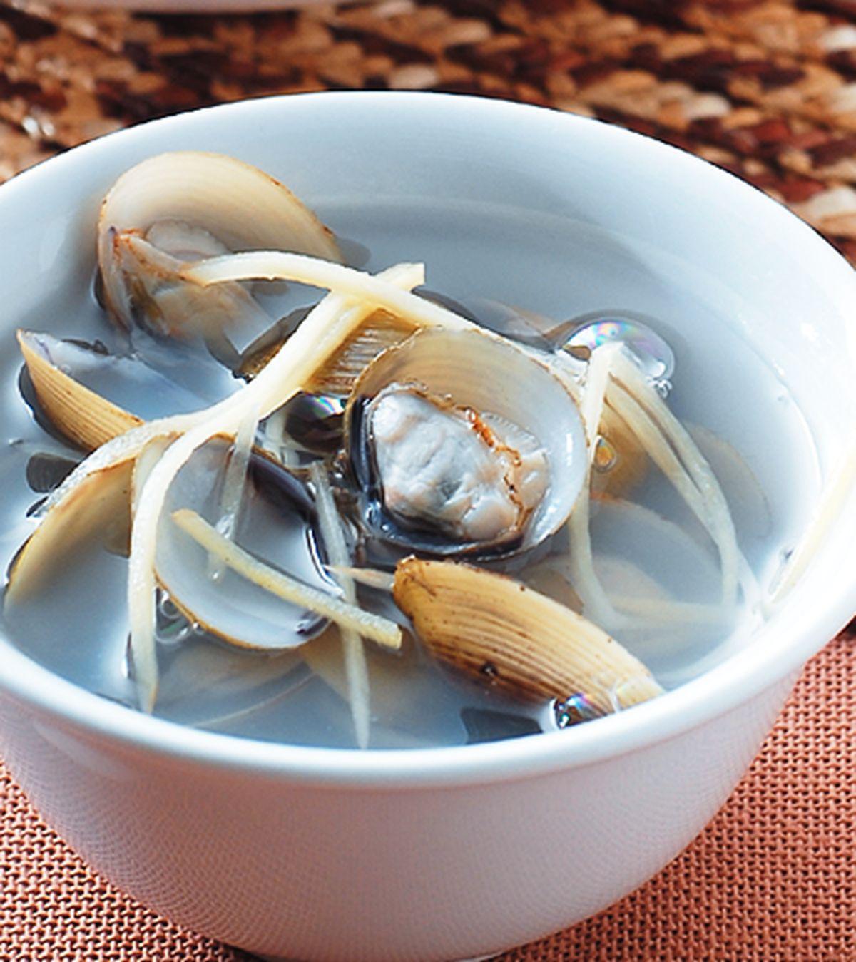 食譜:薑絲蜆湯