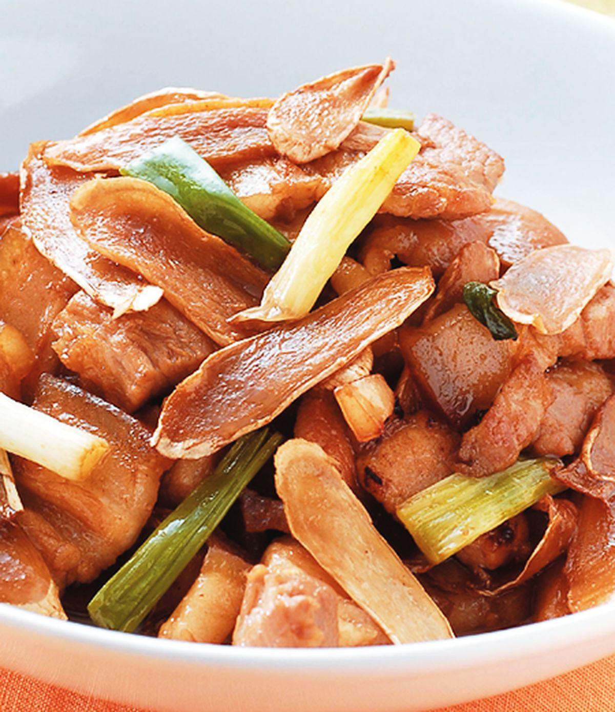 食譜:嫩薑炒三層肉