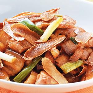 嫩薑炒三層肉