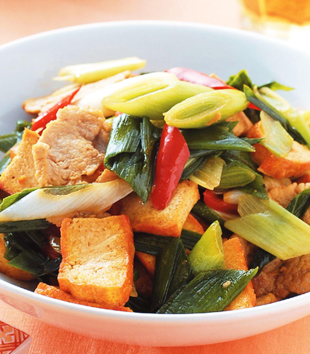 食譜:蒜苗炒黃金豆干