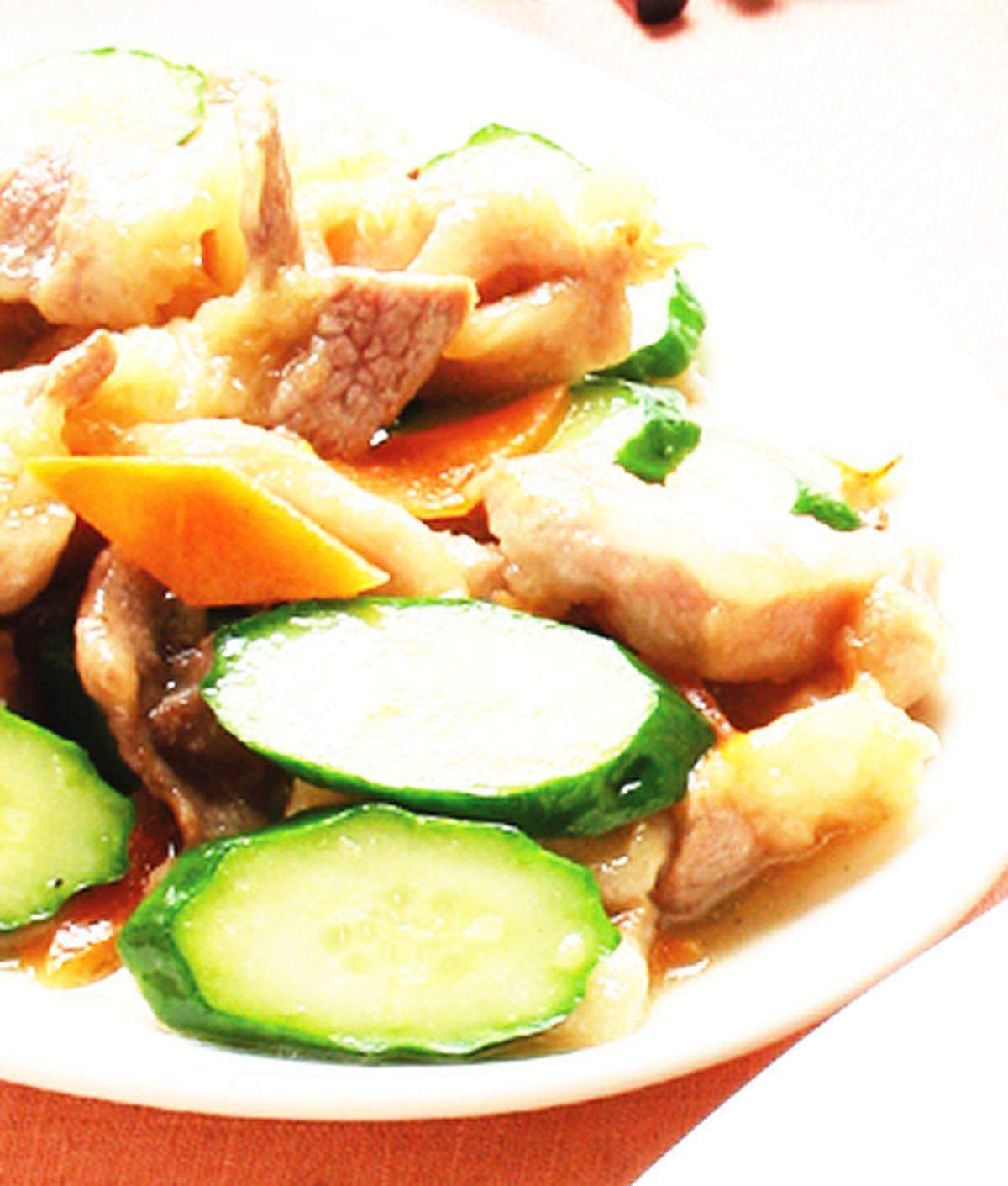食譜:小黃瓜肉片