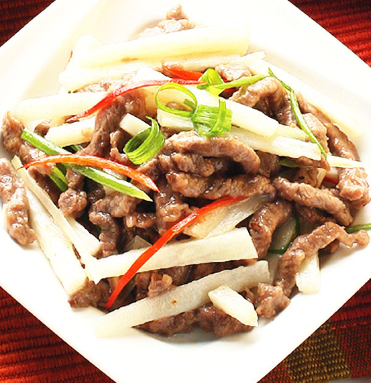 食譜:山藥炒牛肉