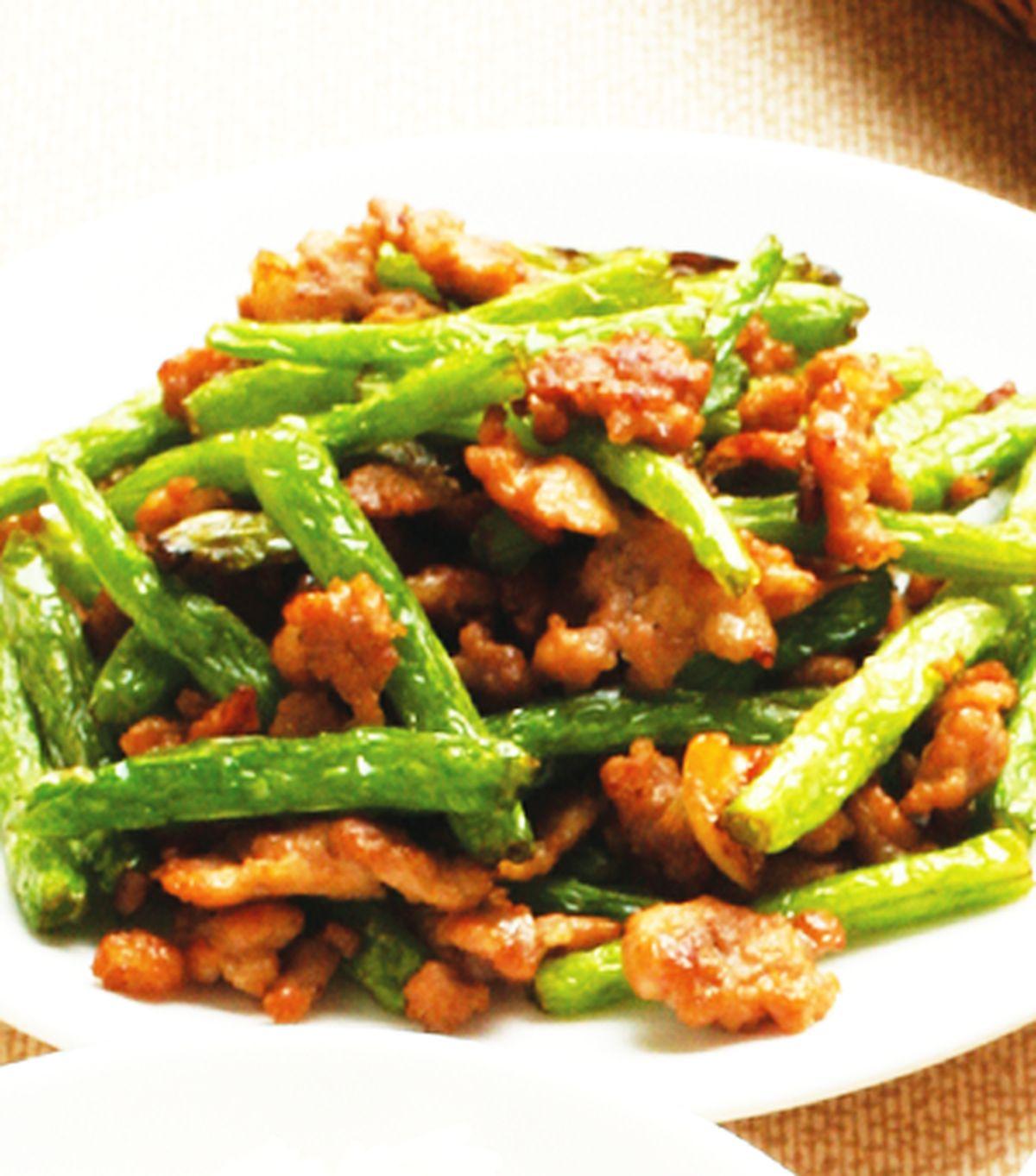 食譜:乾煸四季豆(1)