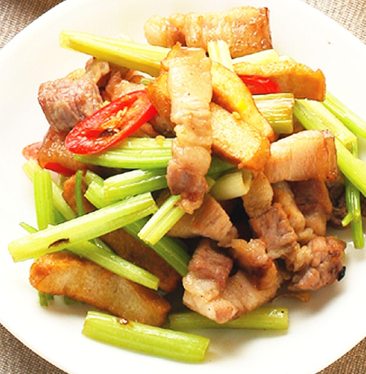 食譜:五花肉炒豆干