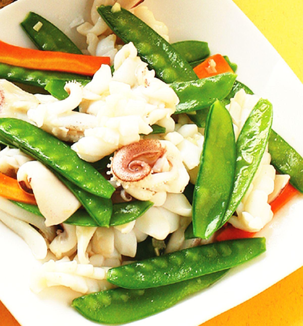 食譜:豌豆炒中卷