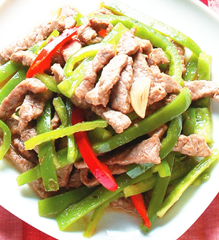 食譜:青椒炒牛肉絲