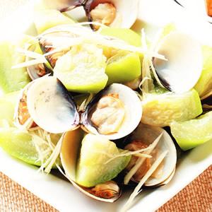 蛤蜊炒絲瓜(1)
