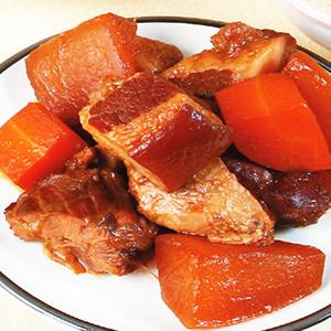 紅白蘿蔔控肉