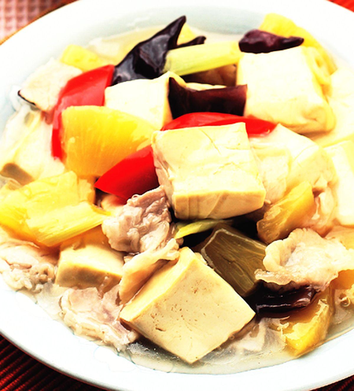 食譜:酸甜鳳梨豆腐