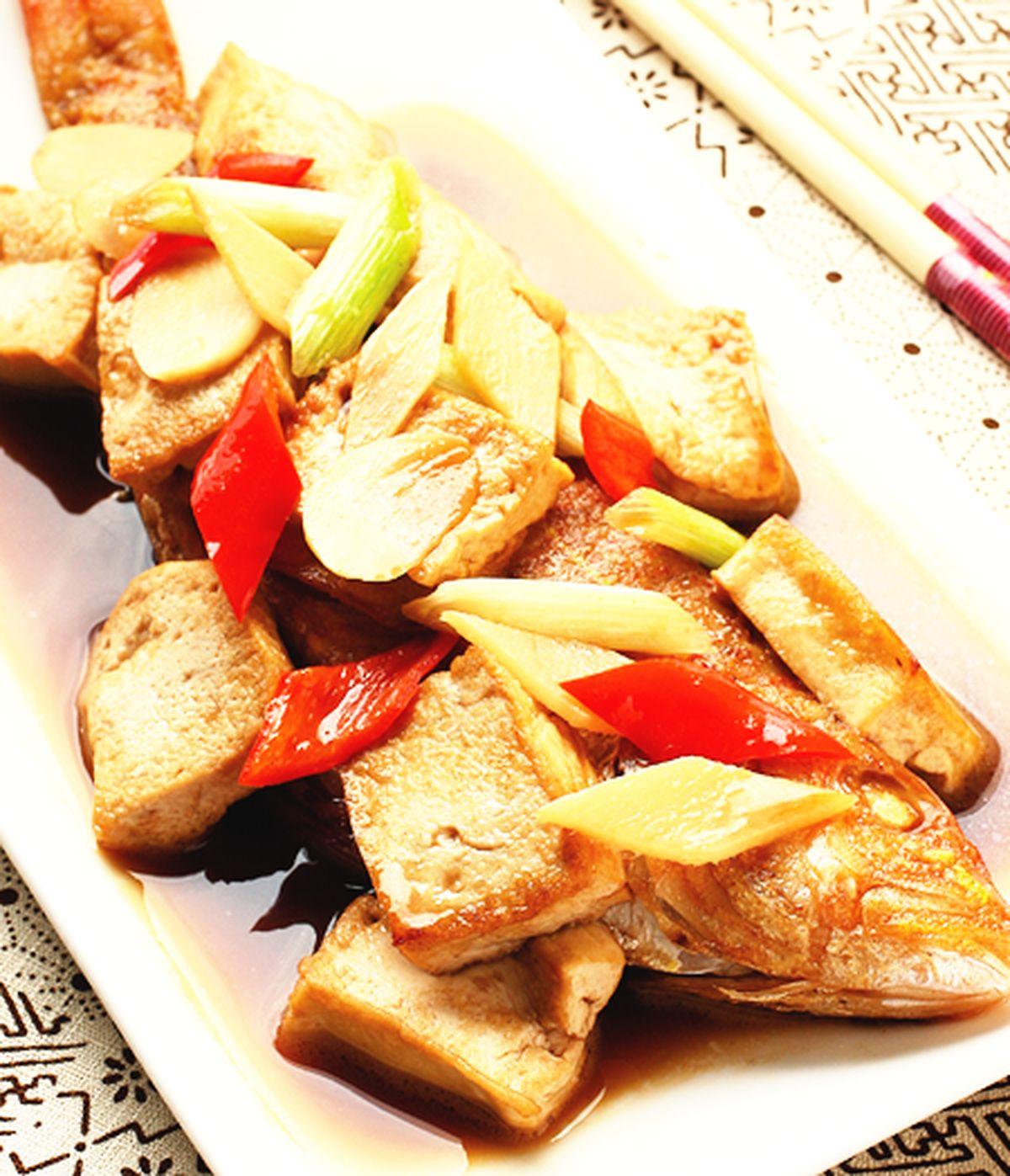 食譜:紅燒魚豆腐