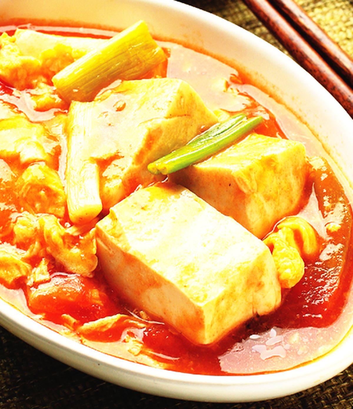食譜:蕃茄豆腐(1)