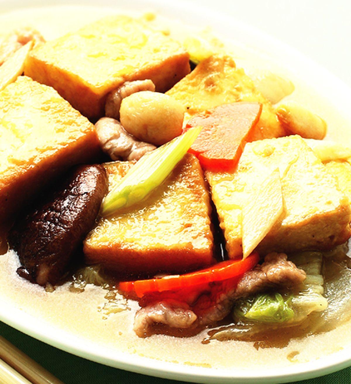 食譜:白菜燴豆腐