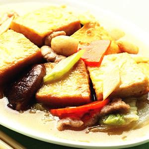 白菜燴豆腐