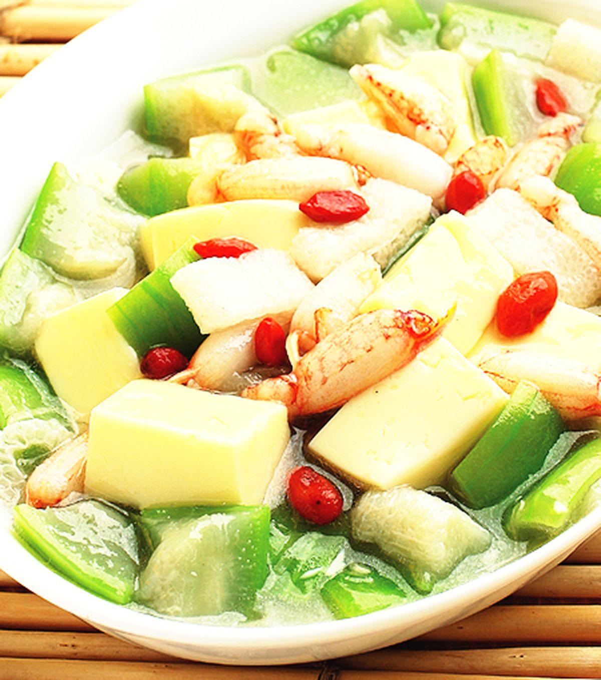 食譜:絲瓜豆腐